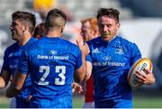 24 August 2019; Hugo Keenan, right, and Cian Kelleher of Leinster during the pre-season friendly match between Canada and Leinster at Tim Hortons Field in Hamilton, Canada. Photo by Kevin Sousa/Sportsfile