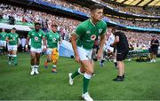 24 August 2019; Ross Byrne of Ireland runs out prior to the Quilter International match between England and Ireland at Twickenham Stadium in London, England. Photo by Brendan Moran/Sportsfile