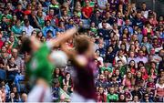 25 August 2019; Spectators watch on during the TG4 All-Ireland Ladies Senior Football Championship Semi-Final match between Galway and Mayo at Croke Park in Dublin. Photo by Sam Barnes/Sportsfile