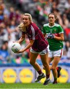 25 August 2019; Megan Glynn of Galway in action against Ciara McManamon of Mayo during the TG4 All-Ireland Ladies Senior Football Championship Semi-Final match between Galway and Mayo at Croke Park in Dublin. Photo by Sam Barnes/Sportsfile