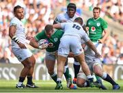 24 August 2019; Sean Cronin of Ireland is tackled by Luke Cowan-Dickie of England during the Quilter International match between England and Ireland at Twickenham Stadium in London, England. Photo by Brendan Moran/Sportsfile
