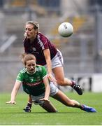 25 August 2019; Ciara Whyte of Mayo in action against Sinéad Burke of Galway during the TG4 All-Ireland Ladies Senior Football Championship Semi-Final match between Galway and Mayo at Croke Park in Dublin. Photo by Sam Barnes/Sportsfile