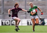 25 August 2019; Grace Kelly of Mayo in action against Sarah Lynch of Galway during the TG4 All-Ireland Ladies Senior Football Championship Semi-Final match between Galway and Mayo at Croke Park in Dublin. Photo by Sam Barnes/Sportsfile