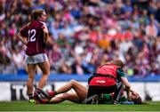 25 August 2019; Niamh Kelly of Mayo receives medical treatment during the TG4 All-Ireland Ladies Senior Football Championship Semi-Final match between Galway and Mayo at Croke Park in Dublin. Photo by Sam Barnes/Sportsfile
