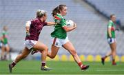 25 August 2019; Sinéad Cafferky of Mayo in action against Orla Murphy of Galway during the TG4 All-Ireland Ladies Senior Football Championship Semi-Final match between Galway and Mayo at Croke Park in Dublin. Photo by Brendan Moran/Sportsfile
