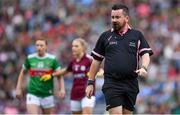 25 August 2019; Referee Seamus Mulvihill during the TG4 All-Ireland Ladies Senior Football Championship Semi-Final match between Galway and Mayo at Croke Park in Dublin. Photo by Brendan Moran/Sportsfile
