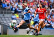 25 August 2019; Carla Rowe of Dublin in action against Eimear Meaney of Cork during the TG4 All-Ireland Ladies Senior Football Championship Semi-Final match between Dublin and Cork at Croke Park in Dublin. Photo by Sam Barnes/Sportsfile
