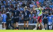 25 August 2019; Dublin footballer Michael Darragh MacAuley at the half-time Gaelic4Mothers and Others games during the TG4 All-Ireland Ladies Senior Football Championship Semi-Final match between Dublin and Cork at Croke Park in Dublin. Photo by Brendan Moran/Sportsfile