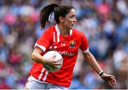 25 August 2019; Eimear Scally of Cork during the TG4 All-Ireland Ladies Senior Football Championship Semi-Final match between Dublin and Cork at Croke Park in Dublin. Photo by Brendan Moran/Sportsfile