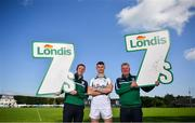 26 August 2019; In attendance, from left, are former Kerry footballer Tomas Ó Sé, Tyrone footballer Richie Donnelly and former Dublin footballer Charlie Redmond during the launch of the Londis Senior All-Ireland Football 7s at Kilmacud Crokes GAA Club in Stillorgan, Co Dublin. Photo by David Fitzgerald/Sportsfile