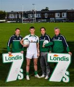 26 August 2019; In attendance, from left, are former Kerry footballer Tomas Ó Sé, Tyrone footballer Richie Donnelly and former Dublin footballers Paul Griffin and Charlie Redmond during the launch of the Londis Senior All-Ireland Football 7s at Kilmacud Crokes GAA Club in Stillorgan, Co Dublin. Photo by David Fitzgerald/Sportsfile