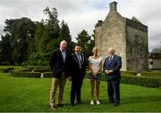 27 August 2019; In attendance, from left, CEO of Athletics Ireland Hamish Adams, Lord Mayor of Dublin Paul McAuliff, Irish long distance runner Catherina McKiernan and Founder of the Remembrance Run Frank Greally at the Remembrance Run Launch 2019 at Phoenix Park in Dublin. Photo by Harry Murphy/Sportsfile