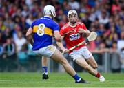 24 August 2019; Tommy O'Connell of Cork in action against Ciarán Connolly of Tipperary during the Bord Gáis Energy GAA Hurling All-Ireland U20 Championship Final match between Cork and Tipperary at LIT Gaelic Grounds in Limerick. Photo by Piaras Ó Mídheach/Sportsfile