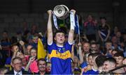 24 August 2019; Tipperary captain Craig Morgan lifts The James Nowlan Cup after the Bord Gáis Energy GAA Hurling All-Ireland U20 Championship Final match between Cork and Tipperary at LIT Gaelic Grounds in Limerick. Photo by Piaras Ó Mídheach/Sportsfile