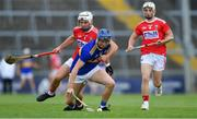 24 August 2019; Billy Seymour of Tipperary in action against Seán O'Leary Hayes, left, and Tommy O'Connell of Cork during the Bord Gáis Energy GAA Hurling All-Ireland U20 Championship Final match between Cork and Tipperary at LIT Gaelic Grounds in Limerick. Photo by Piaras Ó Mídheach/Sportsfile