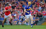 24 August 2019; Jake Morris of Tipperary gets past Seán O'Leary Hayes of Cork during the Bord Gáis Energy GAA Hurling All-Ireland U20 Championship Final match between Cork and Tipperary at LIT Gaelic Grounds in Limerick. Photo by Piaras Ó Mídheach/Sportsfile