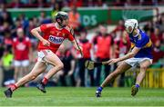 24 August 2019; Ger Millerick of Cork in action against Craig Morgan of Tipperary during the Bord Gáis Energy GAA Hurling All-Ireland U20 Championship Final match between Cork and Tipperary at LIT Gaelic Grounds in Limerick. Photo by Piaras Ó Mídheach/Sportsfile