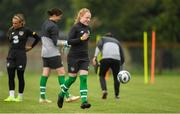 27 August 2019; Amber Barrett during Republic of Ireland WNT training session at Johnstown Estate in Enfield, Co Meath. Photo by Eóin Noonan/Sportsfile