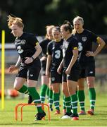 28 August 2019; Amber Barrett during Republic of Ireland WNT training session at Johnstown House in Enfield, Co Meath. Photo by Harry Murphy/Sportsfile