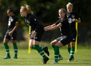 28 August 2019; Amber Barrett and Claire O'Riordan during Republic of Ireland WNT training session at Johnstown House in Enfield, Co Meath. Photo by Harry Murphy/Sportsfile
