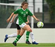 29 August 2019; Emily Whelan of Republic of Ireland in action against Claudia Wenger of Austria during the Women's U19 International Friendly match between Republic of Ireland and Austria at Home Farm FC in Dublin. Photo by Matt Browne/Sportsfile