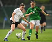 29 August 2019; Anna Bereuter of Austria in action against Emily Whelan of Republic of Ireland during the Women's U19 International Friendly match between Republic of Ireland and Austria at Home Farm FC in Dublin. Photo by Matt Browne/Sportsfile