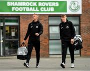 30 August 2019; James Talbot, left, and Ryan Swan of Bohemians arrive prior to their SSE Airtricity League Premier Division match against Shamrock Rovers at Tallaght Stadium in Dublin. Photo by Seb Daly/Sportsfile