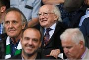 30 August 2019; President of Ireland Michael D Higgins in attendance prior to the SSE Airtricity League Premier Division match between Shamrock Rovers and Bohemians at Tallaght Stadium in Dublin. Photo by Stephen McCarthy/Sportsfile