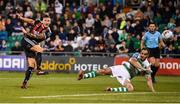 30 August 2019; Rob Cornwall of Bohemians has a shot on goal during the SSE Airtricity League Premier Division match between Shamrock Rovers and Bohemians at Tallaght Stadium in Dublin. Photo by Stephen McCarthy/Sportsfile