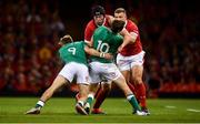 31 August 2019; Adam Beard of Wales is tackled by Kieran Marmion, left, and Jack Carty of Ireland during the Under Armour Summer Series 2019 match between Wales and Ireland at the Principality Stadium in Cardiff, Wales. Photo by David Fitzgerald/Sportsfile