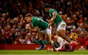 31 August 2019; Garry Ringrose of Ireland collects the ball on his way to scoring a try which was subsequently disallowed during the Under Armour Summer Series 2019 match between Wales and Ireland at the Principality Stadium in Cardiff, Wales. Photo by David Fitzgerald/Sportsfile