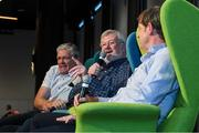 31 August 2019; Former Kerry footballer Eoin 'Bomber' Liston with former Offaly footballer Richie Connor and former Dublin footballer Kevin Moran during a GPA Football Legends Lunch at Croke Park in Dublin. Photo by Matt Browne/Sportsfile