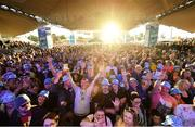 31 August 2019; A general view of the crowd as Bonnie Tyler performs at the Electric Ireland Throwback Stage during day two of Electric Picnic 2019 at Stradbally in Laois. It's a Total Eclipse (of the Heart) at Electric Ireland's Throwback Stage. Bonnie Tyler made her triumphant return to the Electric Ireland Throwback Stage. Back by popular demand, the queen of power ballads, electrified the audience with an unforgettable set. The Throwback Stage is in full flow with headliners N-Trance set to close the stage tomorrow night. One of the most popular stages at the festival, Electric Ireland's Throwback Stage has previously played host to pop legends B*witched, Johnny Logan, Heather Small, 5ive, S Club Party, Ace of Base, 2 Unlimited, The Vengaboys and Bananarama – to name a few. Share in the nostalgia of the Electric Ireland ThrowbackStage, visit:www.twitter.com/ElectricIreland,www.facebook.com/ElectricIreland, www.instagram.com/ElectricIreland. #ThrowbackThrowdown. Photo by Sam Barnes/Sportsfile