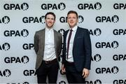 31 August 2019; GPA Chairman Séamus Hickey and Paul Flynn, GPA CEO at the dinner during a GPA Football Legends Lunch at Croke Park in Dublin. Photo by Matt Browne/Sportsfile