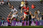 1 September 2019; Conor Corbett of Cork in action against Ruairí King of Galway during the Electric Ireland GAA Football All-Ireland Minor Championship Final match between Cork and Galway at Croke Park in Dublin. Photo by Piaras Ó Mídheach/Sportsfile