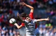 1 September 2019; Tomo Culhane of Galway in action against Neil Lordan of Cork during the Electric Ireland GAA Football All-Ireland Minor Championship Final match between Cork and Galway at Croke Park in Dublin. Photo by Piaras Ó Mídheach/Sportsfile
