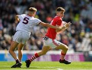 1 September 2019; Conor Corbett of Cork in action against Cian Hernon of Galway during the Electric Ireland GAA Football All-Ireland Minor Championship Final match between Cork and Galway at Croke Park in Dublin. Photo by Eóin Noonan/Sportsfile