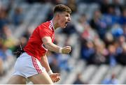 1 September 2019; Conor Corbett of Cork  celebrates after scoring his side's second goal during the Electric Ireland GAA Football All-Ireland Minor Championship Final match between Cork and Galway at Croke Park in Dublin. Photo by Eóin Noonan/Sportsfile