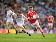 1 September 2019; Michael O'Neill of Cork in action against Ruairí King of Galway during the Electric Ireland GAA Football All-Ireland Minor Championship Final match between Cork and Galway at Croke Park in Dublin. Photo by Eóin Noonan/Sportsfile