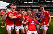 1 September 2019; Cork players celebrate after the Electric Ireland GAA Football All-Ireland Minor Championship Final match between Cork and Galway at Croke Park in Dublin. Photo by Eóin Noonan/Sportsfile