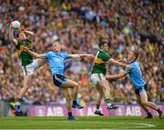 1 September 2019; Tadhg Morley of Kerry in action against Paul Mannion of Dublin during the GAA Football All-Ireland Senior Championship Final match between Dublin and Kerry at Croke Park in Dublin. Photo by Eóin Noonan/Sportsfile