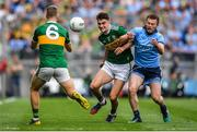 1 September 2019; Seán O'Shea of Kerry is tackled by Jack McCaffrey of Dublin during the GAA Football All-Ireland Senior Championship Final match between Dublin and Kerry at Croke Park in Dublin. Photo by Brendan Moran/Sportsfile