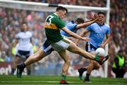 1 September 2019; David Clifford of Kerry in action against Jack McCaffrey of Dublin during the GAA Football All-Ireland Senior Championship Final match between Dublin and Kerry at Croke Park in Dublin. Photo by Ramsey Cardy/Sportsfile
