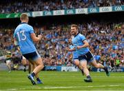 1 September 2019; Jack McCaffrey of Dublin celebrates after scoring his side's first goal during the GAA Football All-Ireland Senior Championship Final match between Dublin and Kerry at Croke Park in Dublin. Photo by Seb Daly/Sportsfile