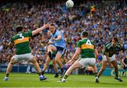 1 September 2019; Con O'Callaghan of Dublin kicks a point under pressure from Tadhg Morley, Tom O'Sullivan, and Adrian Spillane of Kerry during the GAA Football All-Ireland Senior Championship Final match between Dublin and Kerry at Croke Park in Dublin. Photo by Seb Daly/Sportsfile