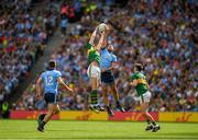 1 September 2019; Brian Fenton of Dublin in action against Gavin Crowley of Kerry during the GAA Football All-Ireland Senior Championship Final match between Dublin and Kerry at Croke Park in Dublin. Photo by Eóin Noonan/Sportsfile