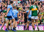 1 September 2019; Jonny Cooper of Dublin is issued a red card by referee David Gough during the GAA Football All-Ireland Senior Championship Final match between Dublin and Kerry at Croke Park in Dublin. Photo by Brendan Moran/Sportsfile