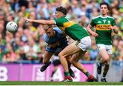 1 September 2019; David Clifford of Kerry is fouled by Jonny Cooper of Dublin, resulting in a red card, during the GAA Football All-Ireland Senior Championship Final match between Dublin and Kerry at Croke Park in Dublin. Photo by Brendan Moran/Sportsfile