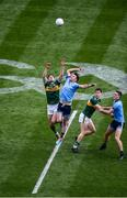 1 September 2019; David Moran, left, and Jack Barry of Kerry compete for the throw-in against Michael Darragh Macauley, left, and Brian Fenton of Dublin during the GAA Football All-Ireland Senior Championship Final match between Dublin and Kerry at Croke Park in Dublin. Photo by Daire Brennan/Sportsfile