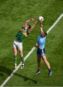1 September 2019; David Moran of Kerry in action against James McCarthy of Dublin during the GAA Football All-Ireland Senior Championship Final match between Dublin and Kerry at Croke Park in Dublin. Photo by Daire Brennan/Sportsfile